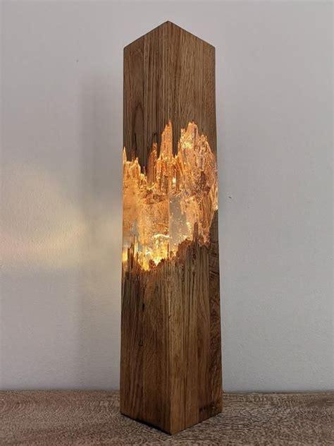 epoxy wood lamp lamp night lamp resin table decor