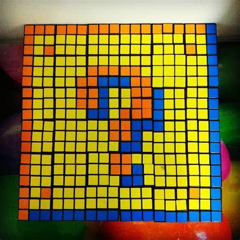 cuadro de rubik cuadro con cubos de rubik galletita de jengibre