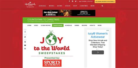 Hallmark Channel Com Sweepstakes - joy to the world sweepstakes experience holiday magic around the world