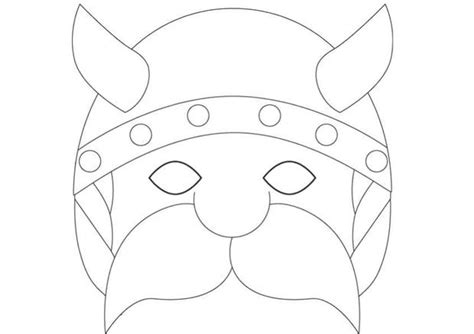 printable viking mask viking mask printable how to craft viking mask hellokids com