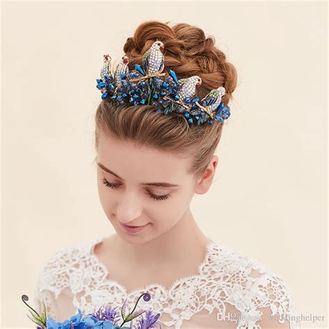 vintage wedding hairstyles with tiara vintage wedding bridal crown tiara headpieces blue