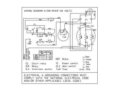 hobart mixer a200 parts diagram hobart l800 mixer parts