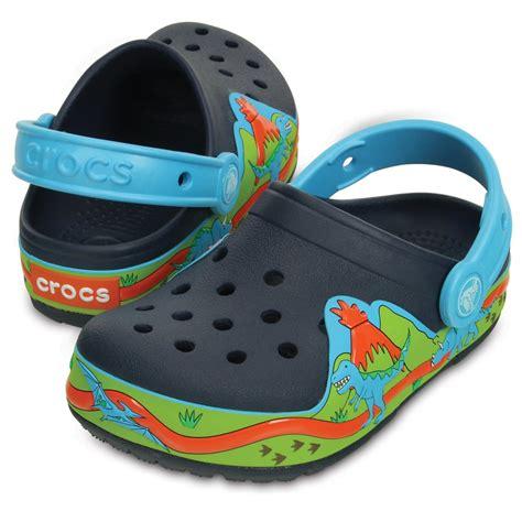 Crocs Led crocs lights dinosaur clog navy volt green with led light up ebay