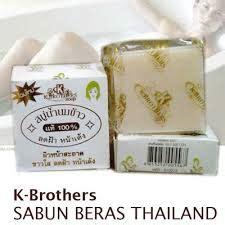 K Brothers Soap Sabun Beras Thailand K Brothers Original Bpom A05 Be pemutih badan alami dan aman sabun mahkota indah sabun
