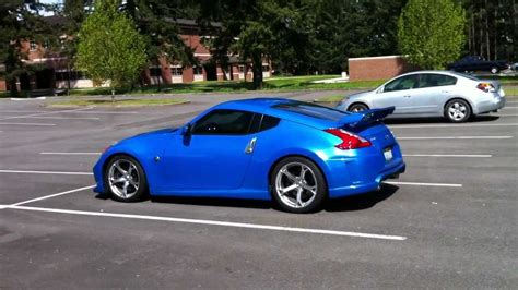 blue nissan 370z blue nissan nismo 370z walk around youtube