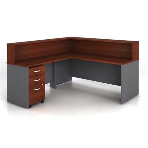 Bush Bennington L Shaped Desk Bush Business Series C 4 L Shape Reception Computer Desk Wc24436 Pkg2