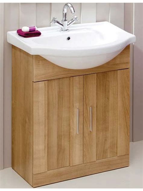 bathroom oak vanity units cordoba oak 65cm vanity unit