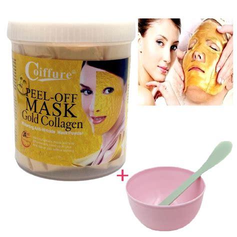 Masker Lumpur Liyanshijia 24k Active Gold Whitening Mask 24k gold mask powder active gold collagen pearl powder masks anti aging whitening