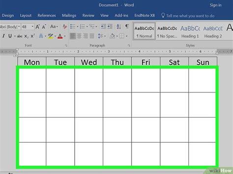 Make A Calendar In Word een kalender maken in word wikihow