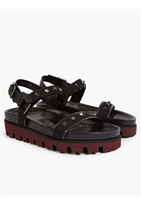 Sandal Studed valentino s studded sandals in black for lyst