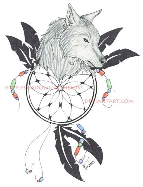 dreamcatcher tattoo designs wolf wolf dreamcatcher tattoo by jethero13 on deviantart
