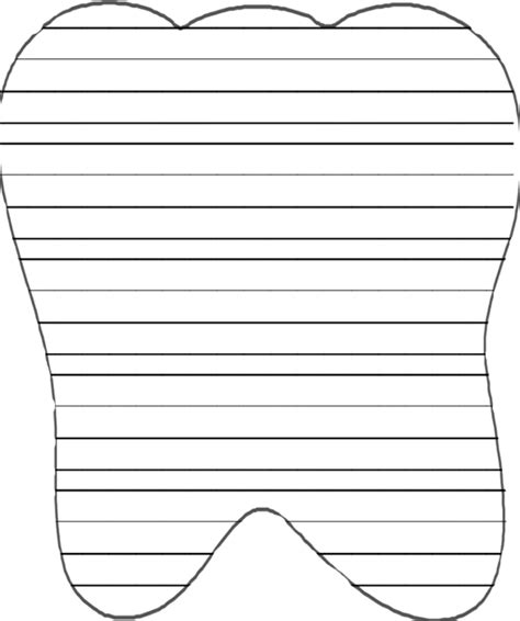 Tooth Writing Template by Tooth Shaped Writing Lines Classroom Ideas