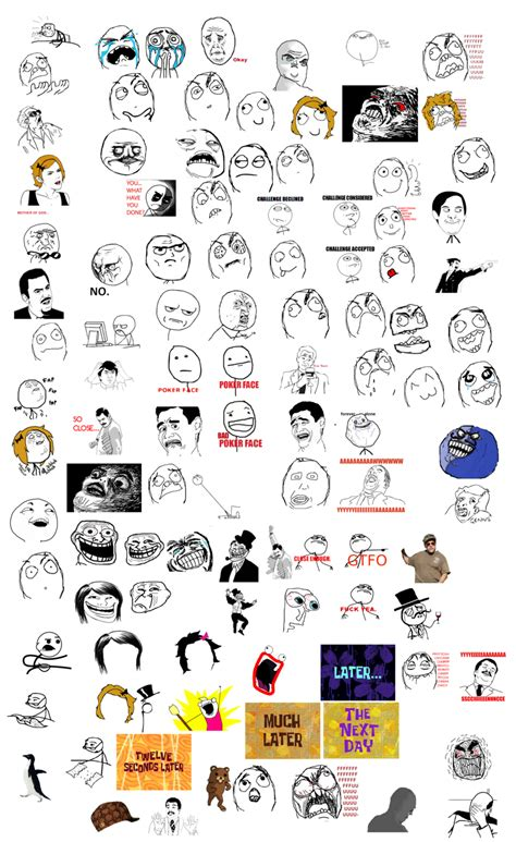 All Meme Faces Names - a list of memes by pikmin789 on deviantart