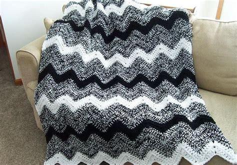 black and white yarn patterns pretty double strand crochet ripple blanket tera nicole