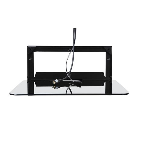 Omnimount Component Shelf Black by Omnimount Blade Series Single Shelf Component Wall Mount