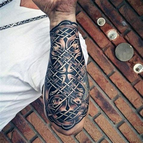 celtic forearm tattoo 100 celtic knot tattoos for interwoven design ideas