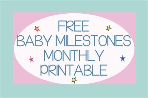printable baby milestone cards baby milestones to record time capsule company
