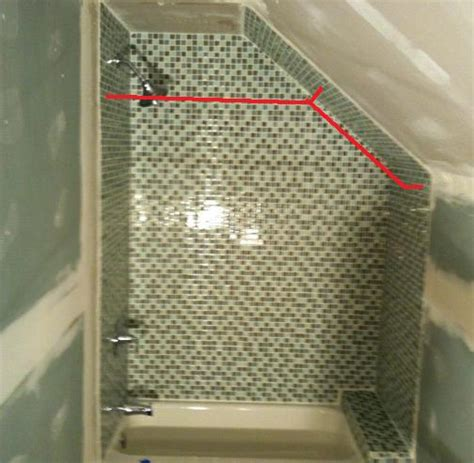 shower curtain rod for angled wall since the angled wall is not conducive to a standard