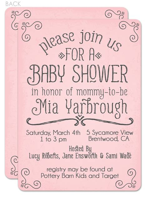 What Month Should You A Baby Shower by Baby Shower Invite Wording Suggestions Interior