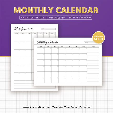 blank calendar template blank monthly calendar template pdf free
