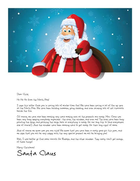 Easy Free Letters From Santa Customize Your Text And Design And Create A Unique Santa Letter Free Printable Letter From Santa Template