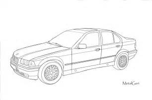 bmw e36 vector draw by metalgeri on deviantart