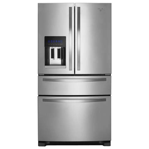 whirlpool 24 5 cu ft door refrigerator in