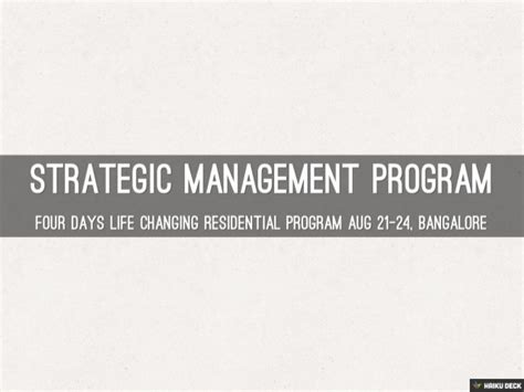 Strategic Management Mba Colleges by Strategic Management Program