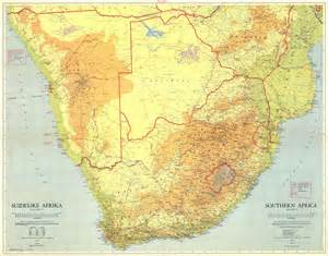 Topographical Map Of Africa by Large Detailed Topographical Map Of South Africa South