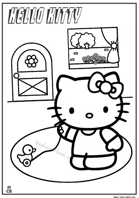 hello kitty fall coloring page hello kitty coloring pages 05