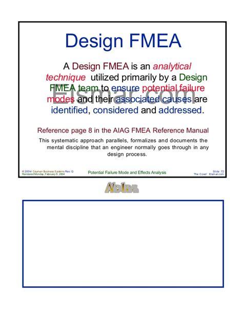 design effect epi info design process fmea manual