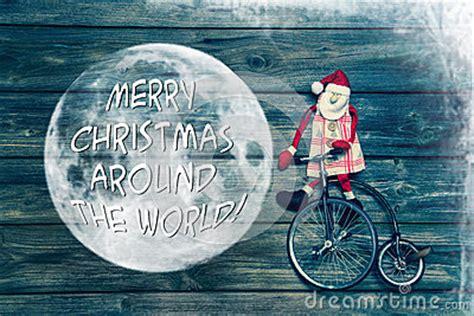 merry christmas   world greeting card  text decor stock photo image
