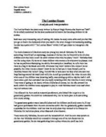 Story Analysis Essay Exle by Literary Analysis Essay Prompts