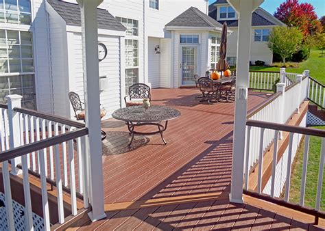 custom timbertech deck pittsford ny  sq ft