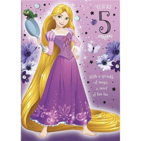 5th Birthday Rapunzel Disney Princess Birthday Card (25454939)   Character Brands