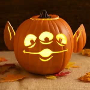 Disney Halloween Pumpkin Carving Patterns - toy story alien pumpkin carving template disney family