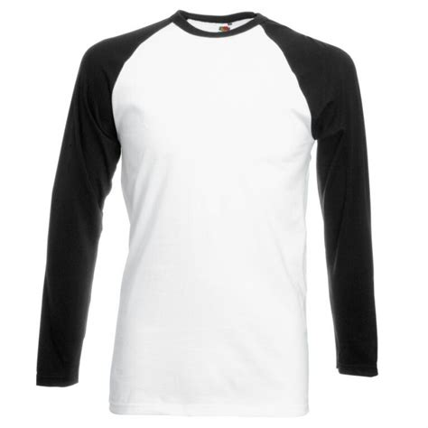 Kaos Lengan Panjang To Do List black and white sleeved baseball t shirt with