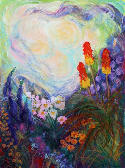 abstract garden carol engles garden one abstract garden painting
