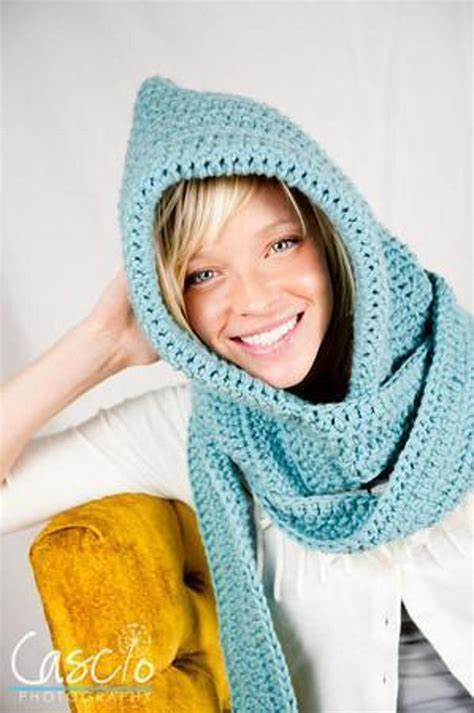 hooded scarf crochet pattern designs for a cozy winter