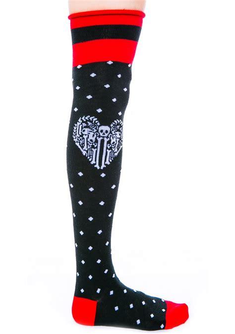 Socks X Bone fast bone rolled the knee socks dolls kill