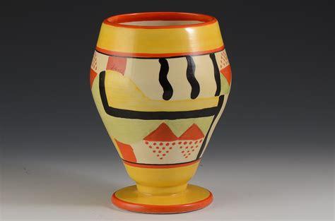 Clarice Cliff Vase by Clarice Cliff Sunspots 363 Vase C 1930