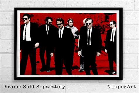 quentin tarantino film canvas reservoir dogs quentin tarantino film pop art movie poster