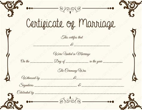 free printable marriage certificate template 34 best printable marriage certificates images on