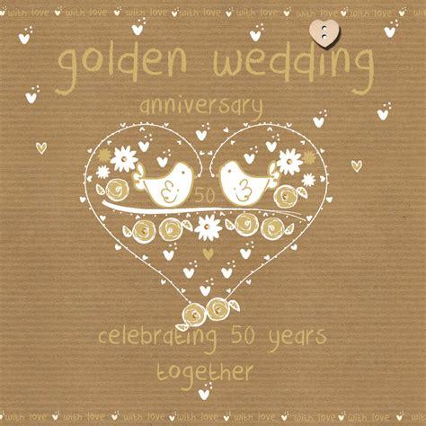 Wedding Anniversary Golden by Golden Wedding Anniversary Card Karenza Paperie