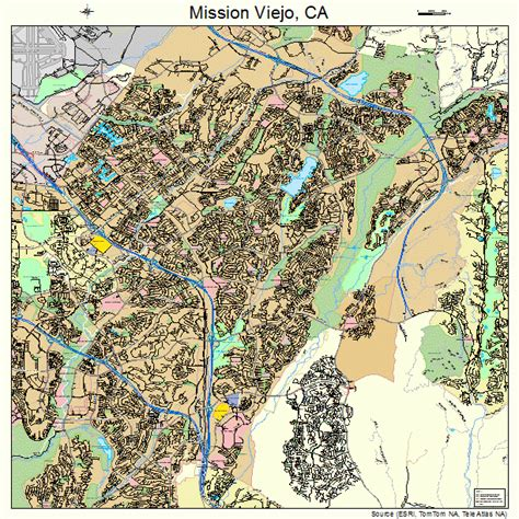 california map mission viejo mission viejo california map 0648256