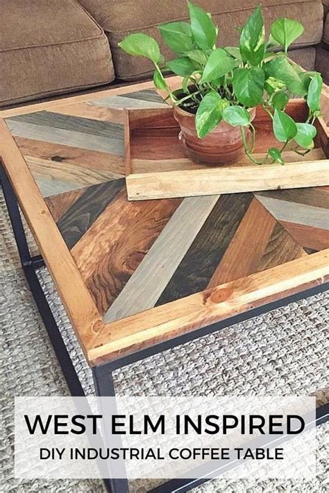 west elm alexa coffee table west elm inspired industrial diy coffee table