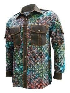 desain kemeja modern pria jual kemeja batik pria dengan desain batik modern hm 1711