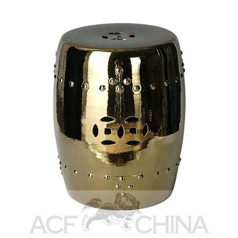 porcelain garden stools in chrome or gold