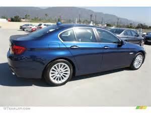 sea blue metallic 2013 bmw 5 series 535i sedan