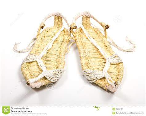 grass shoes grass shoes on white background royalty free stock
